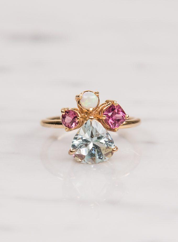 anillo tres piedras