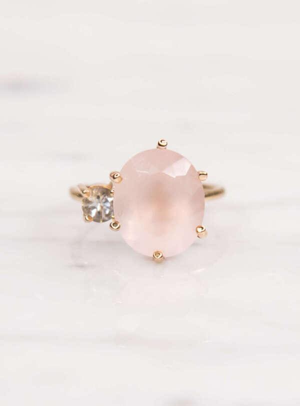 Doble cuarzo rosa