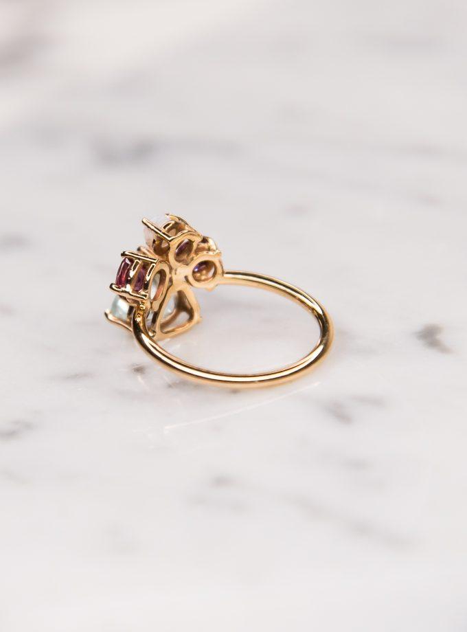 anillo tres piedras oro