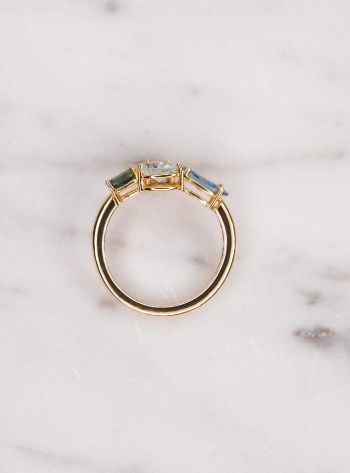 anillo de cuatro piedras zenital
