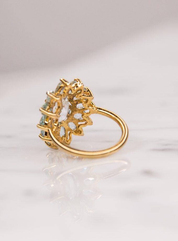 anillo flor lateral
