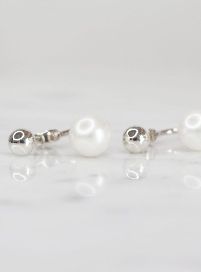 aretes de plata pura con una perla