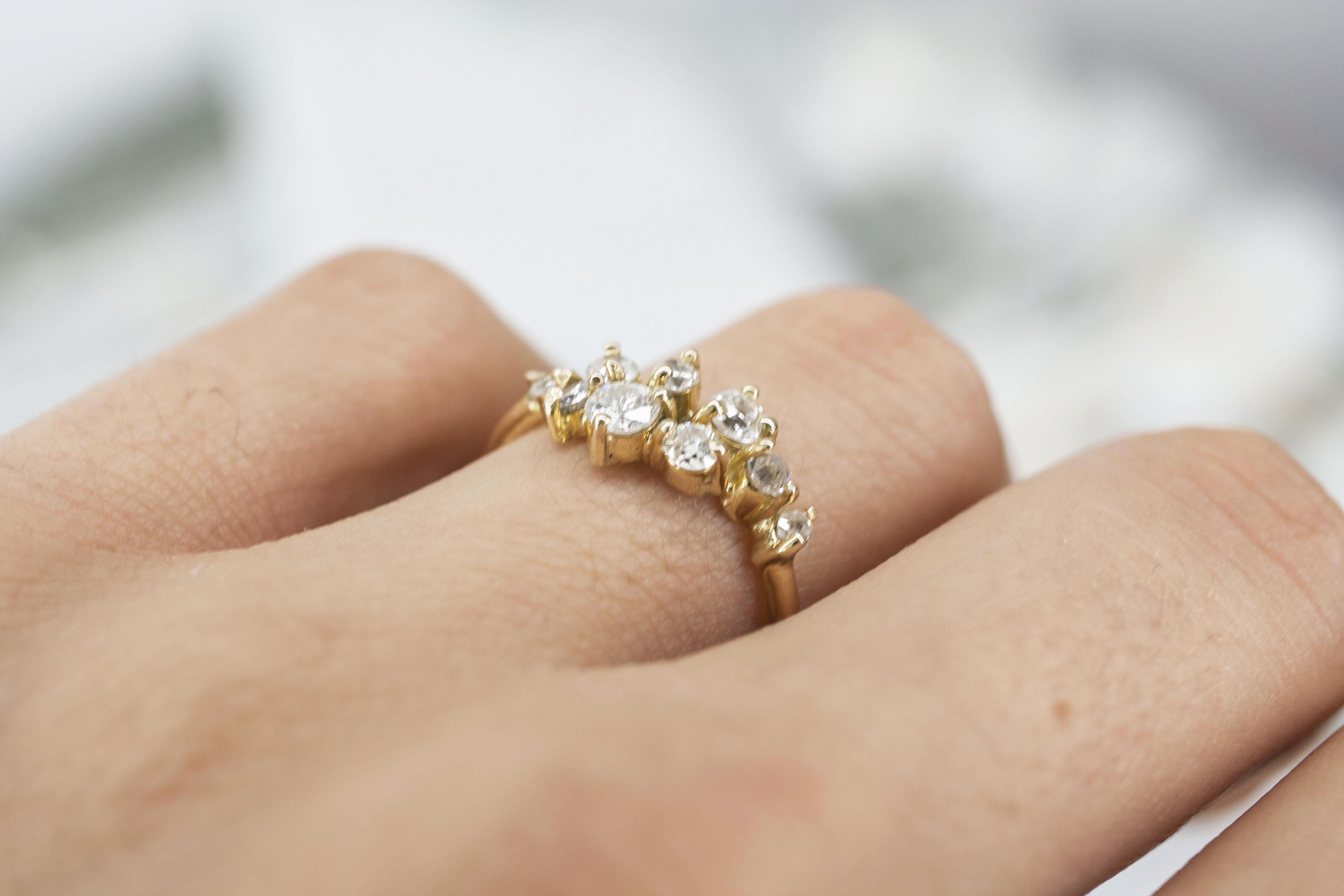 anillo churumbela oro diamantes