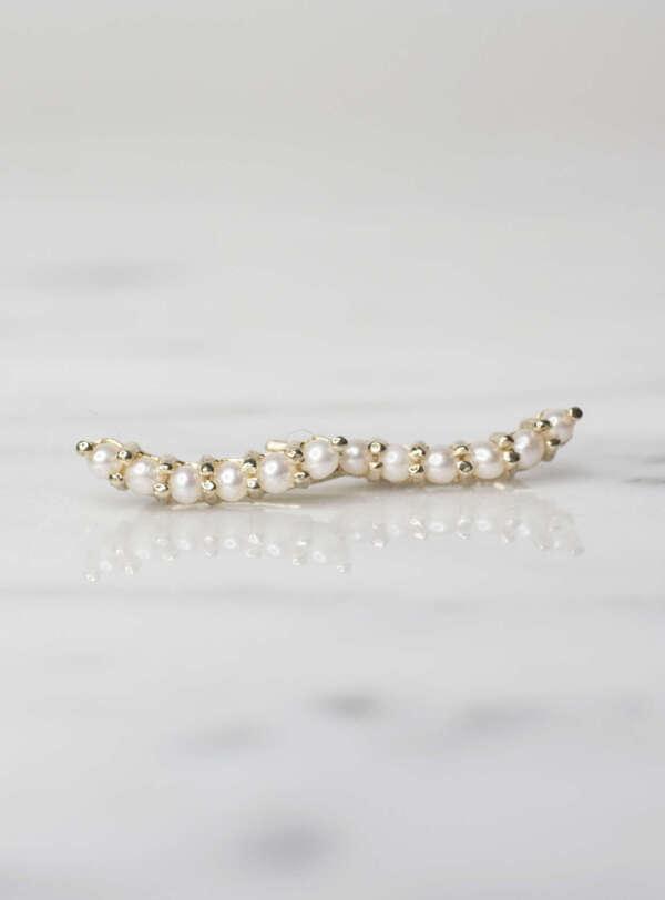 aretes trepadores de perlas