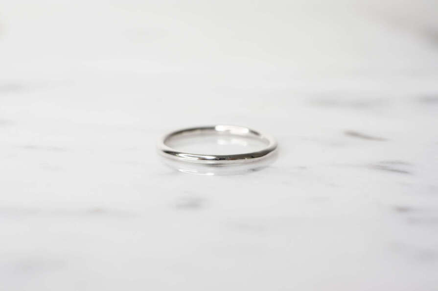 anillo circular plata liso